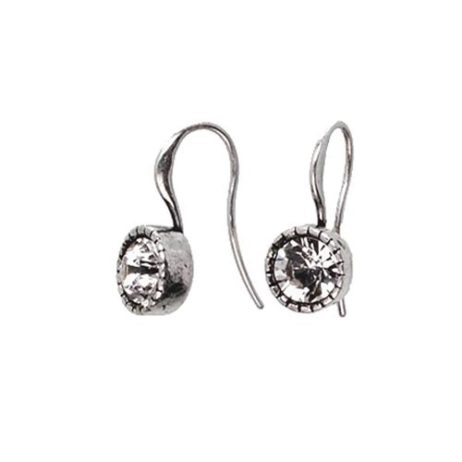 Hultquist Classic Silver Plated & Swarovski Crystal Drop Earrings - EOL
