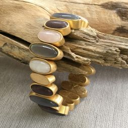 Sence Copenhagen Be Loud Multi Stone Worn Gold Bracelet
