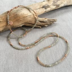 Sence Copenhagen Be Happy Rose Gold Labradorite Necklace