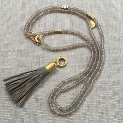 Sence Copenhagen Be Boho Agate Necklace Worn Gold