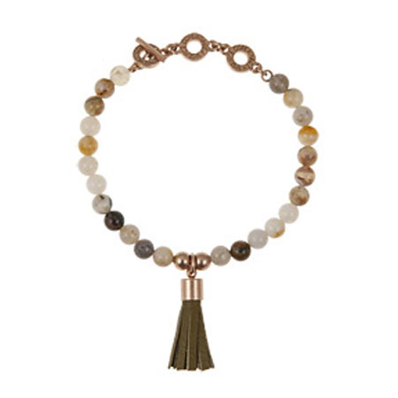Sence Copenhagen Be Boho Bracelet Bamboo Agate Rose Gold