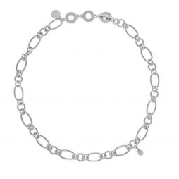 Sence Copenhagen Matt Silver Necklace with Amazonite