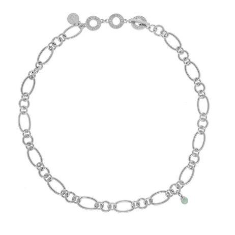 Sence Copenhagen Matt Silver Necklace with Amazonite