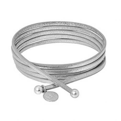 Sence Copenhagen Silver Soft Leather 2 in 1 Necklace and Bracelet