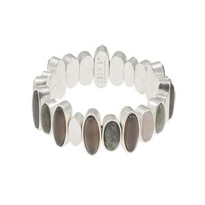 Sence Copenhagen Be Loud Multi Stone Worn Silver Bracelet