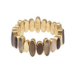 Sence Copenhagen Be Loud Multi Stone Worn Gold Bracelet