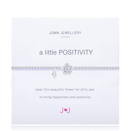 Joma Jewellery A Little Positivity Silver Bracelet 1006