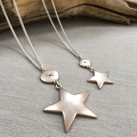 Hultquist Jewellery Moon and Stars Short Rose Gold Necklace - EOL