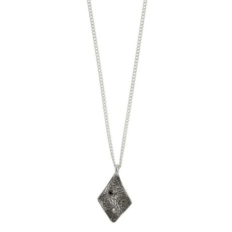 Hultquist Jewellery Rhombus Silver Plated Necklace with Crystals