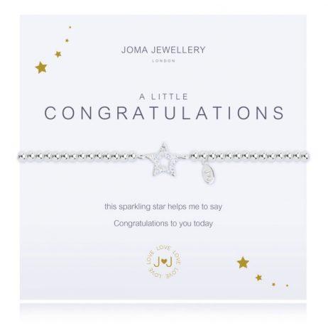Joma Jewellery A Little Congratulations Silver Pave Bracelet 1927 - EOL