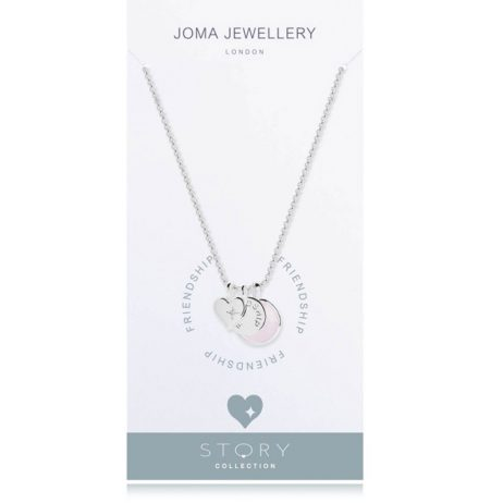 Joma Jewellery Story Friendship Silver Charms Necklace 2004