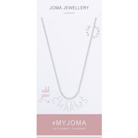 Joma Jewellery #MYJOMA Alphabet Base Silver Chain Necklace 64cm 2024