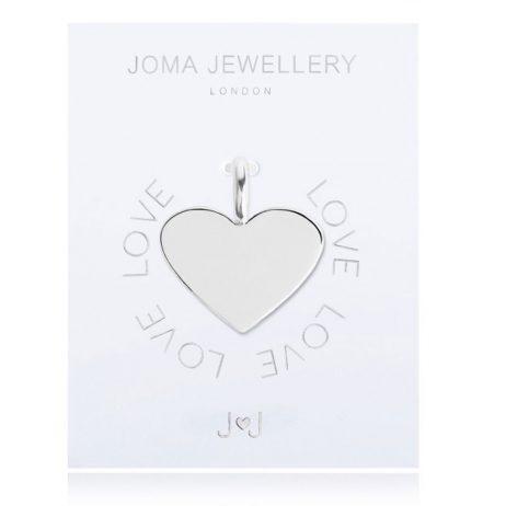 Joma Jewellery #MYJOMA Heart Charm Silver 2053 *