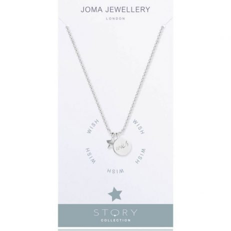 Joma Jewellery Story Wish Silver Charms Necklace 2064
