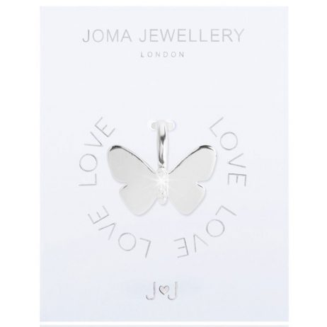 Joma Jewellery #MYJOMA Pave Butterfly Charm Silver 2156