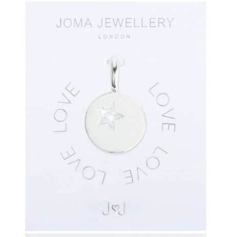 Joma Jewellery #MYJOMA Pave Star Disc Charm Silver 2157