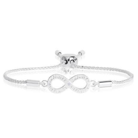 Joma Jewellery Message Bracelet Infinity Silver Crystal 2197