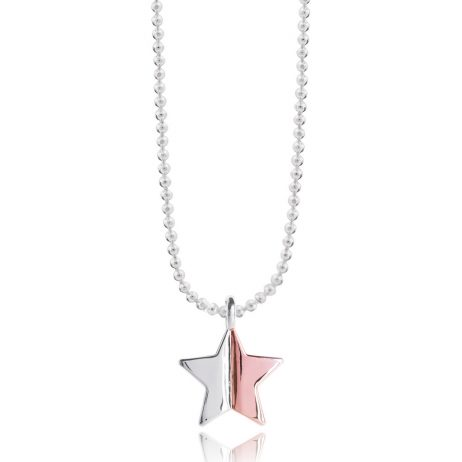 Joma Jewellery Astra Rose Gold and Silver Star Necklace 2202