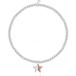 Joma Jewellery Astra Rose Gold and Silver Star Bracelet 2203