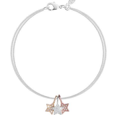 Joma Jewellery Florence Pave Stars Trio Bracelet 2209