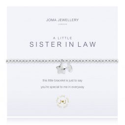 Joma Jewellery A Little Sister In Law Silver Star Bracelet 2268