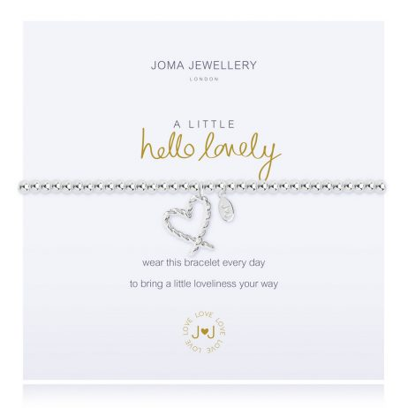 Joma Jewellery A Little Hello Lovely Silver Heart Bracelet 2274