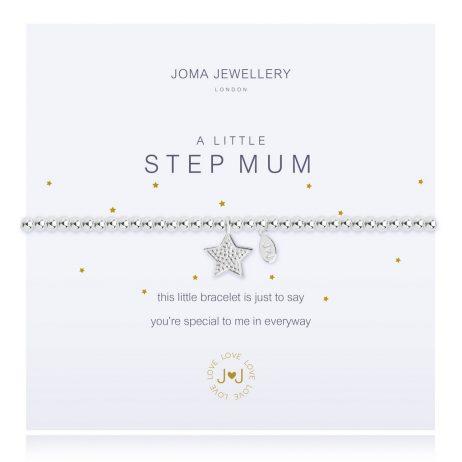 Joma Jewellery A Little Step Mum Silver Bracelet 2280