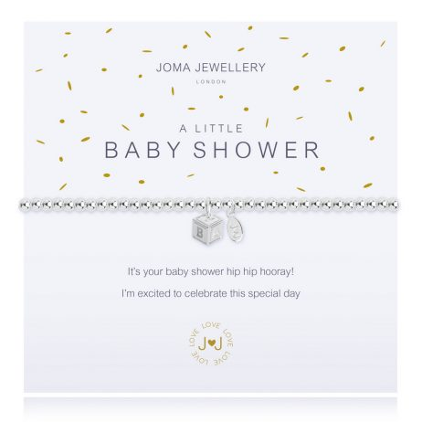 Joma Jewellery A Little Baby Shower Silver Bracelet 2284