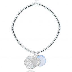 Joma Jewellery Story Silver Mindfulness Charms Bracelet 2299