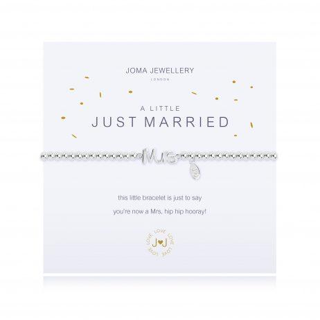 Joma Jewellery A Little Just Married Silver Bracelet 2316