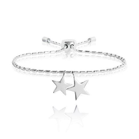 Joma Jewellery Dash Star Silver Bracelet 2335