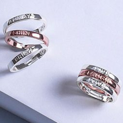 Joma Jewellery Always Shine Bright Stacking Rings 2353