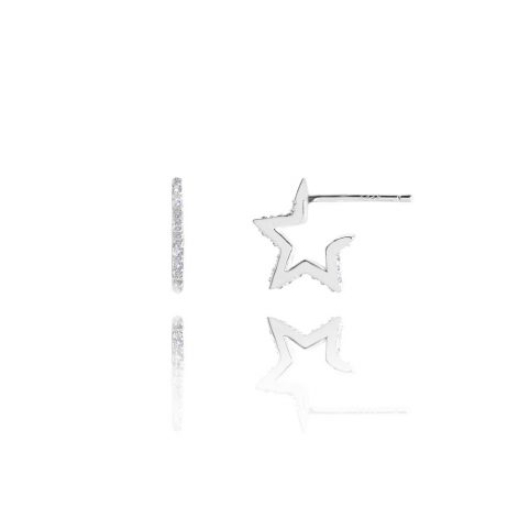 Joma Jewellery Alix Pave Outline Star Earrings 2371