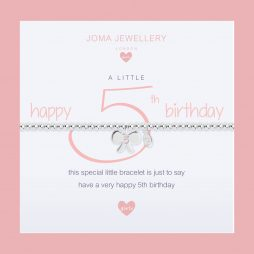 Joma Jewellery Girls A Little Happy 5th Birthday Silver Bracelet C396