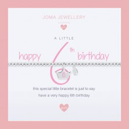 Joma Jewellery Girls A Little Happy 6th Birthday Silver Bracelet C397