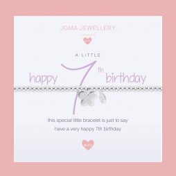 Joma Jewellery Girls A Little Happy 7th Birthday Silver Bracelet C398