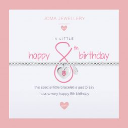 Joma Jewellery Girls A Little Happy 8th Birthday Silver Bracelet C399