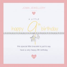 Joma Jewellery Girls A Little Happy 9th Birthday Silver Bracelet C400