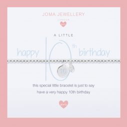 Joma Jewellery Girls A Little Happy 10th Birthday Silver Bracelet C401