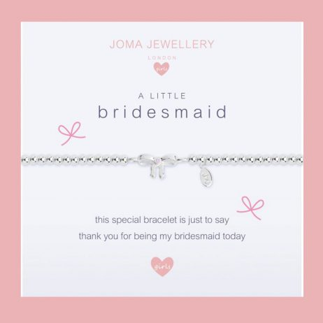 Joma Jewellery Girls a little Bridesmaid Silver Bracelet C403