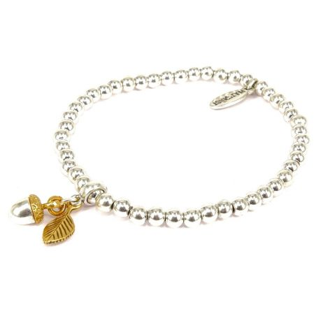 Hultquist Jewellery Silver and Gold Acorn Bracelet