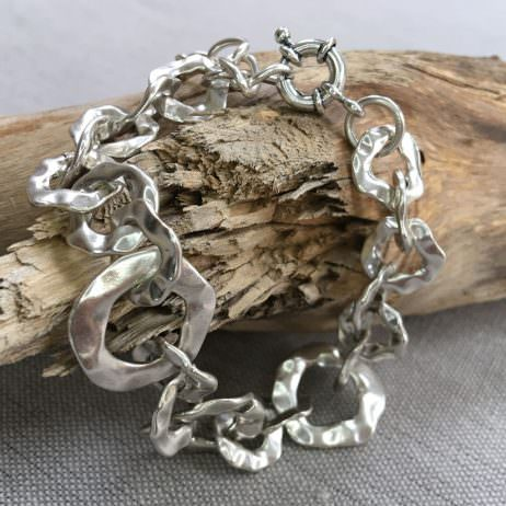 Hultquist Jewellery Silver Organic Circles Bracelet - EOL