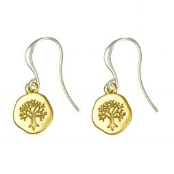 Hultquist Jewellery Silver and Gold Coin Tree Pendant Earrings