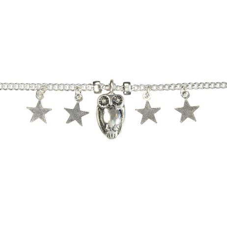 Hultquist Jewellery Silver Bracelet with Owl and Stars - EOL