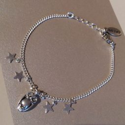 Hultquist Jewellery Silver Bracelet with Owl and Stars