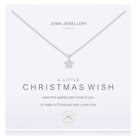 Joma Jewellery a little CHRISTMAS WISH Silver Necklace 1484