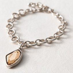 Danon Jewellery Gold Crystal Silver Link Bracelet