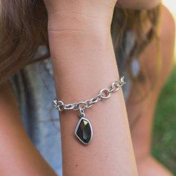 Danon Jewellery Crystal Silver Link Bracelet B3838S