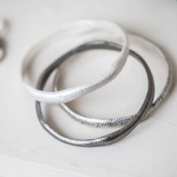 Tutti and Co Jewellery Kiera Bracelet Three Uneven Bangles