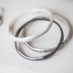 Tutti and Co Jewellery Kiera Bracelet Three Uneven Bangles